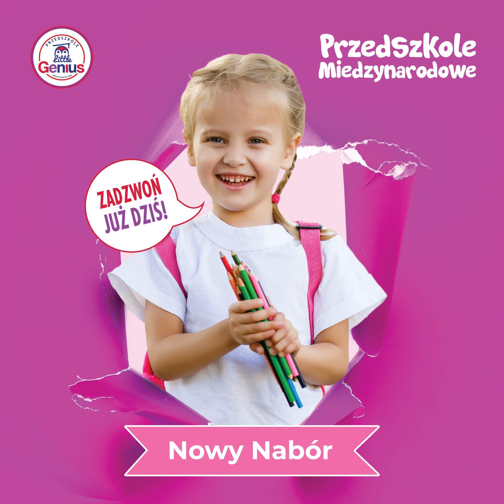 Nabór Przedszkole Międzynarodowe Łódź Little Genius
